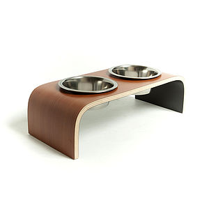 Designer Raised Pet Feeder - cats