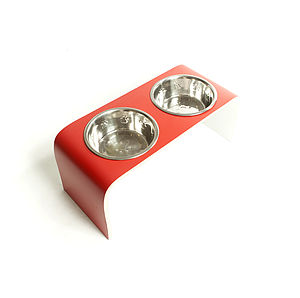 Designer Dog Bowl Holder - dogs