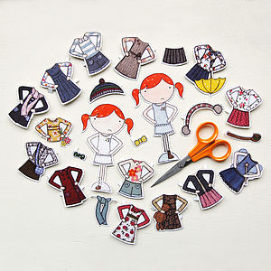 Dress Up Clara Paper Doll Deluxe Set - winter sale