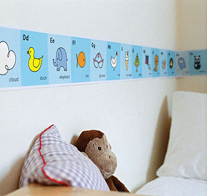 Alphabet Frieze - children's decorative accessories