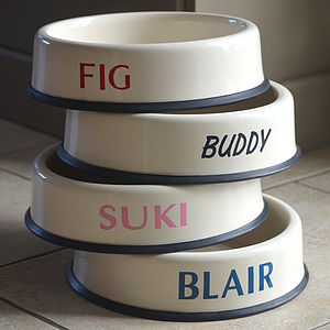 Personalised Enamel Dog Bowl - treats & food