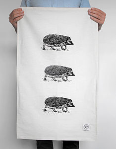 Hedgehog Tea Towel - tea towels