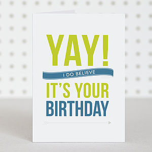 'Yay!' For Birthdays Card