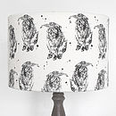 Hand Printed Hare Lampshade