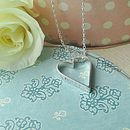 Hanging Heart Personalised Pendant