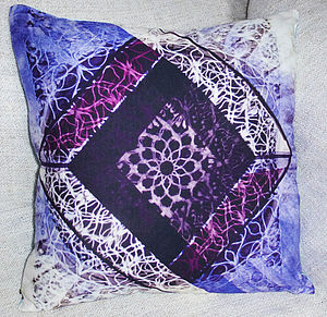 Diamonds Silk Cotton Cushion Cover - cushions