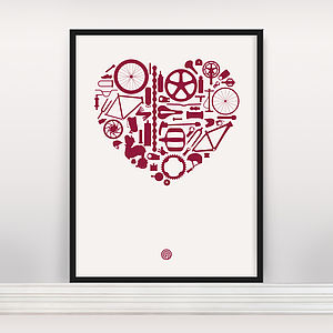 'Bike Love' Screen Print Edition Open Edition