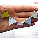 Wooden Bunting Necklace In Candy