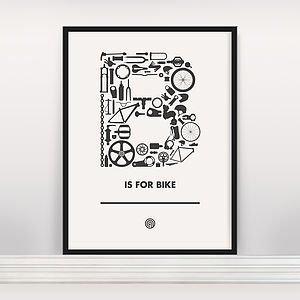 'B Is For Bike' Screen Print Open Edition