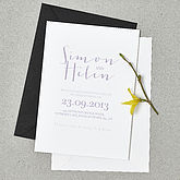 'Love Note' Wedding Stationery Set - cards