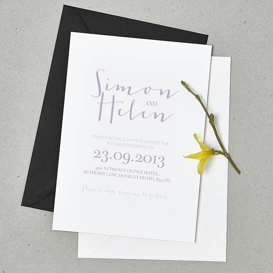 not on the high street winter wedding invitations%0A  u    Love Note u     Wedding Stationery Set   u