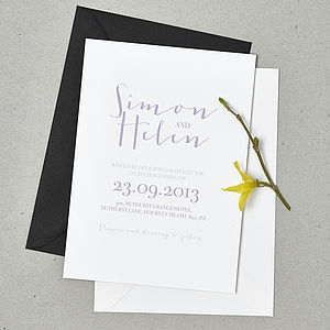 'Love Note' Wedding Stationery Set - winter sale
