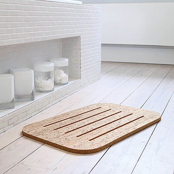 Cork Bath Mat, Light Cork