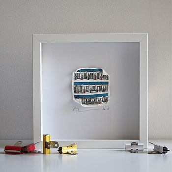 Street Scene 3 D Framed Artwork