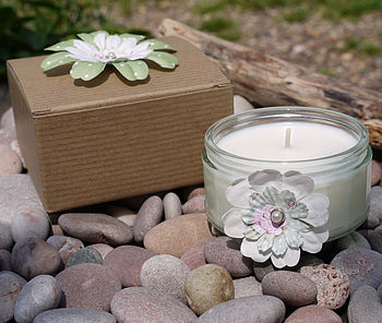 Clean Cotton Flower Scented Candle