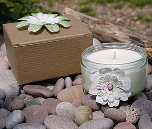 Clean Cotton Flower Scented Candle - lights & candles
