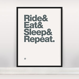 'Ride And Eat' Open Edition Screen Print - winter sale