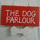 Pet House Sign_Cherry Red