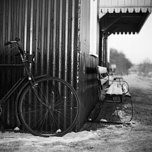 Bicycle, Black And White Signed Art Print