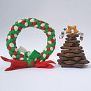 Canine Cookie Tree And Wreath Toy