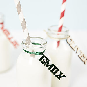 Personalised Name Drink Charms - christmas parties