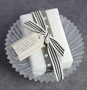 Soap And Soap Dish Set For Friends - bath & body