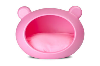 Pink Dog Bed with Pink cushion