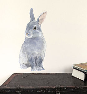 Bunny Wall Sticker, Rabbit Wall Sticker, Bunny Rabbit