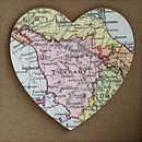 Personalised Vintage Map Memory Book