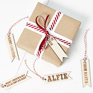 Wooden Personalised Christmas Gift Tag