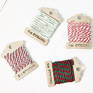 Bakers Twine Bobbins - ribbon & wrap