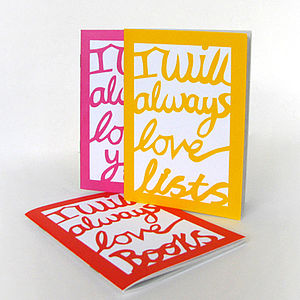 'I Will Always Love Lists' Notebook - notebooks