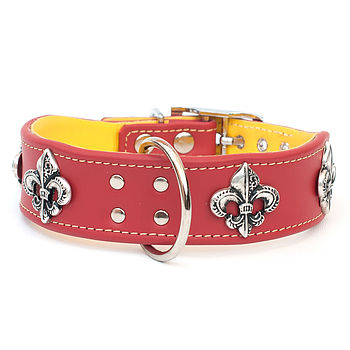 Forever Fleur Handmade Leather Dog Collar