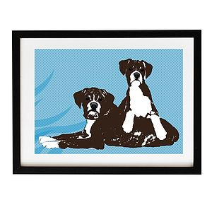 Two Boxer Dogs Fine Art Print