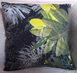 Leaves Silk Cotton Cushion Cover - cushions