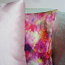 Pearly Pink Silk Cotton Cushion Cover