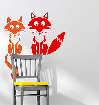 Foxy Friends Wall Sticker Decal