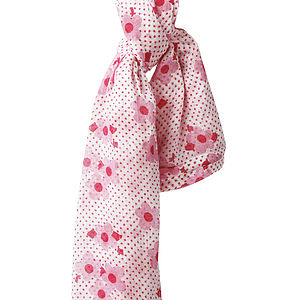 Pink Ditsy Muslin Swaddle