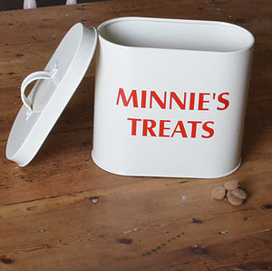 Personalised Pet Food Storage Tin - food, feeding & treats