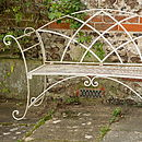 Riviera Wrought Iron Bench