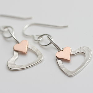 Portscatho Heart Earrings - earrings