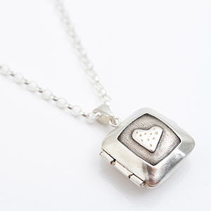 Personalised Silver Heart Locket - necklaces & pendants