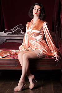 Peach Bettie Robe - bathroom