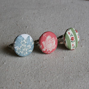 Handmade Country Garden Floral Ring - rings