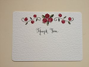 10 Hand Illustrated Thank You Cards