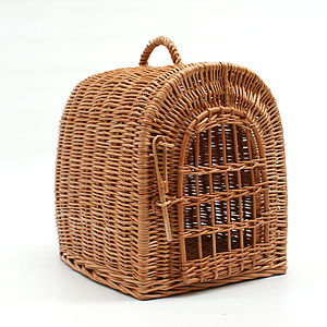 Wicker Pet Carrier Basket - beds & sleeping