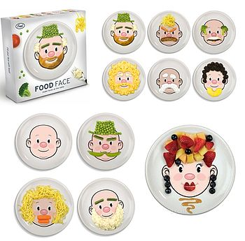 Mrs Food Face Kids Plate