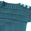 Child's Hand Knitted Merino Guernsey