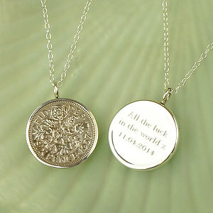 Lucky Sixpence Necklace - women's jewellery