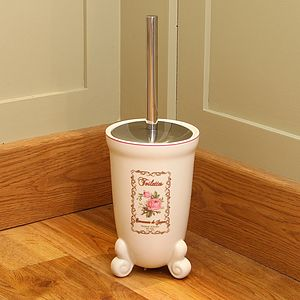 Vintage Rose Toilet Brush Store - furnishings & fittings